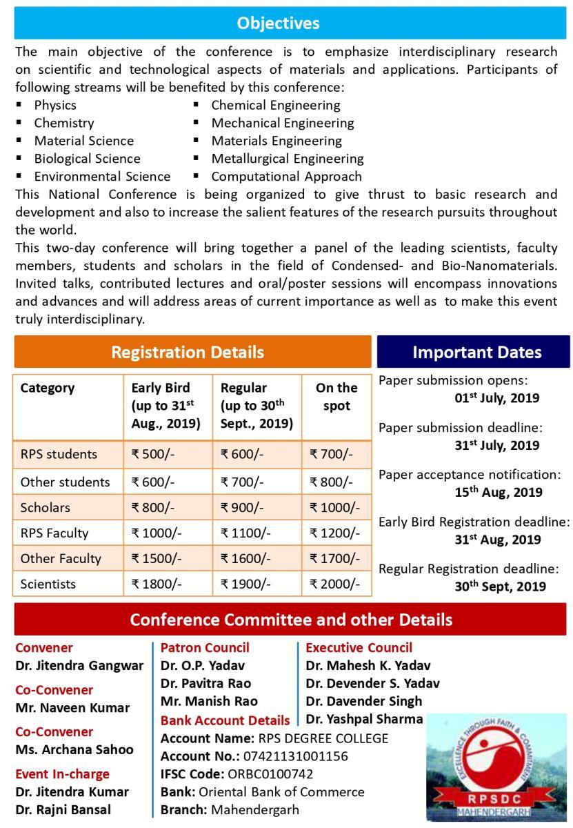 Conferences/Seminars/Workshops