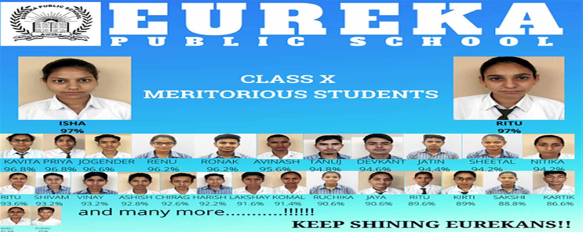 CLASS X ACHIEVERS
