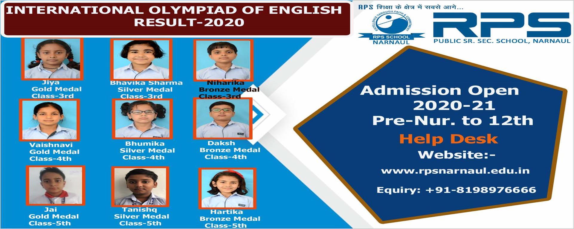 International Olympiad of English