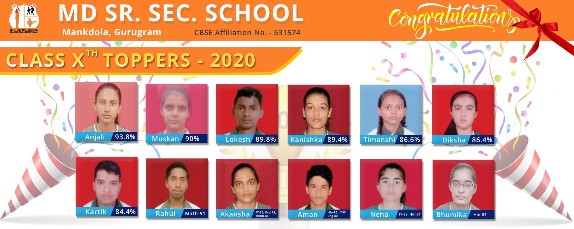 M D sr. sec. School